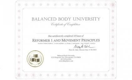 mezinárodní certifikát BBU